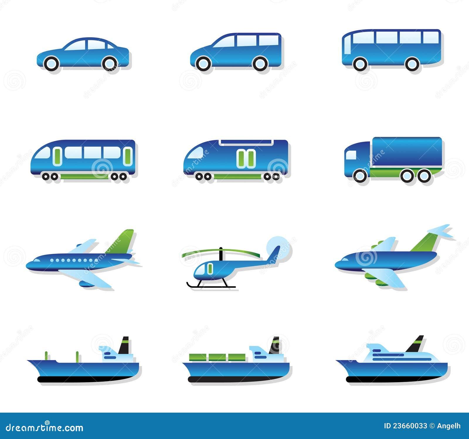 Het vervoer van de weg van de lucht van het spoor en van het water vector illustratie - Groen behang van het water ...