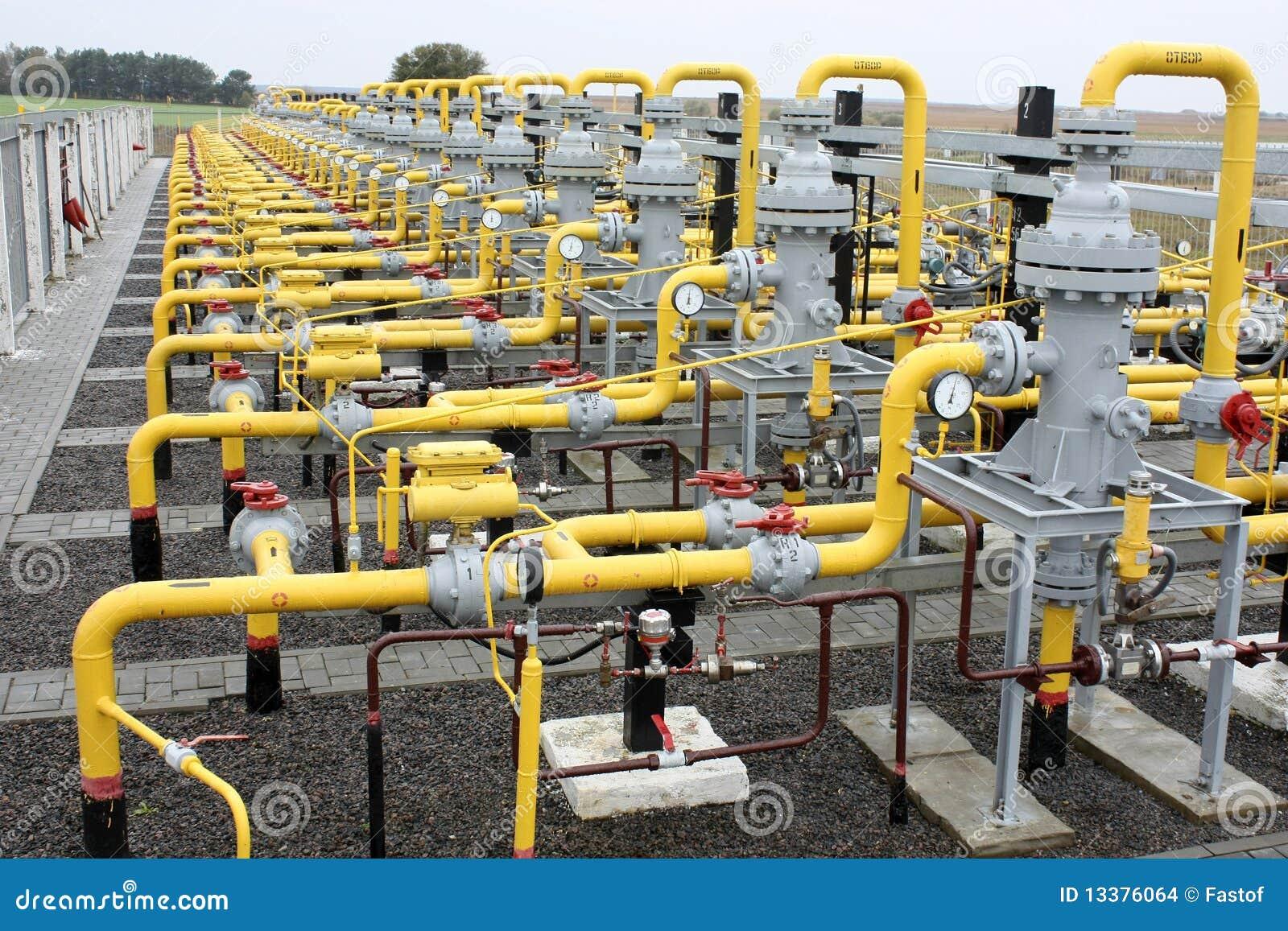Het vervoer van het gas