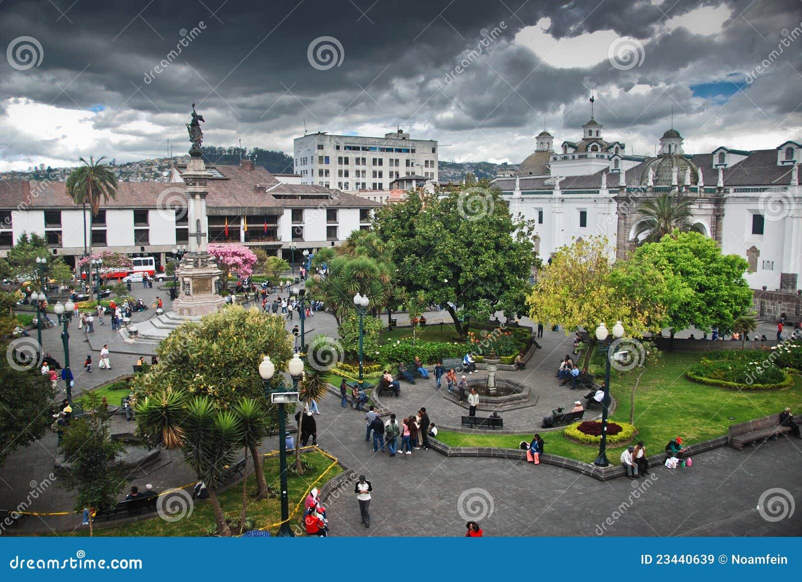 Het Vierkant van de onafhankelijkheid in Quito