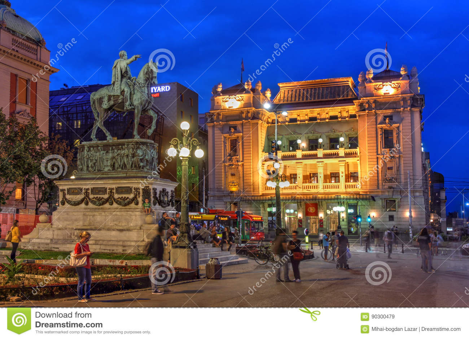 Het Vierkant van de republiek, Belgrado, Servië
