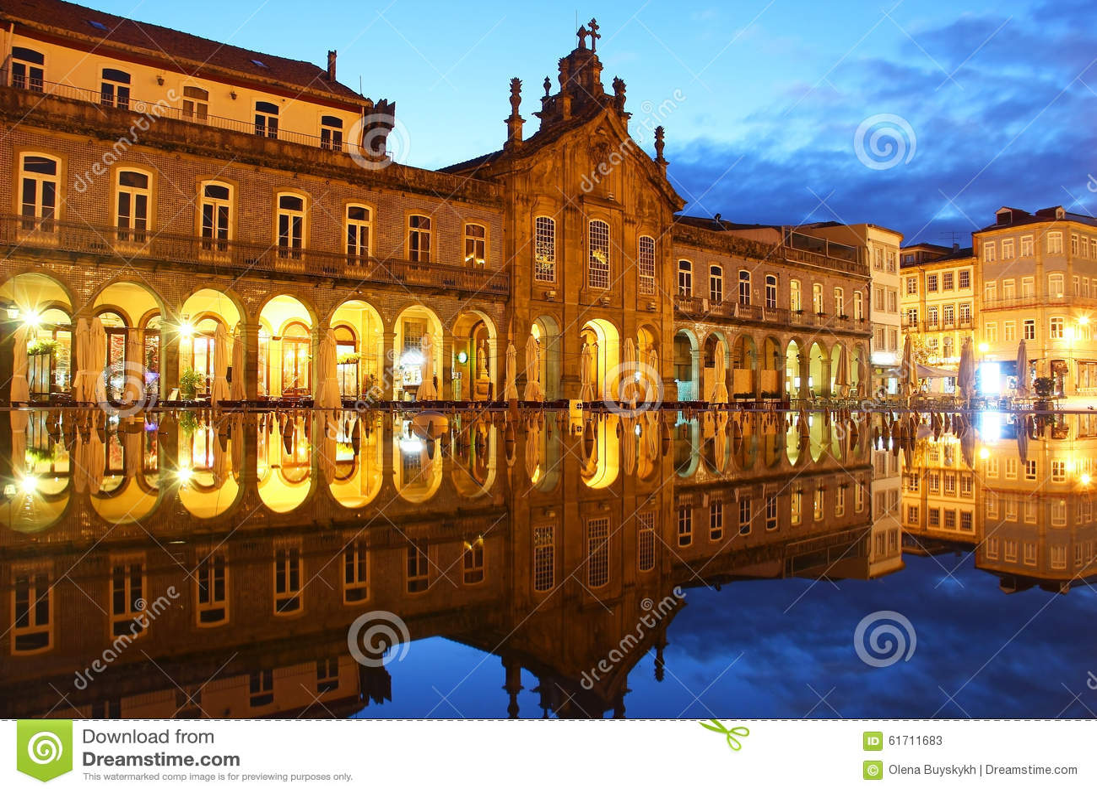 Het vierkant van de republiek, Braga, Portugal