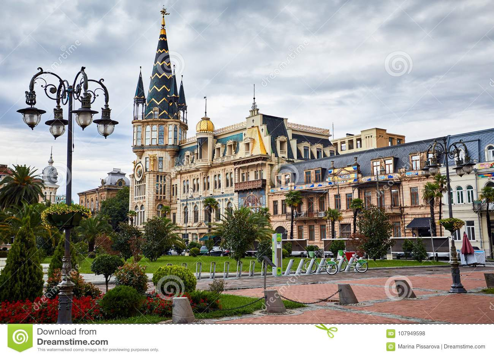 Het Vierkant van Europa in Batumi