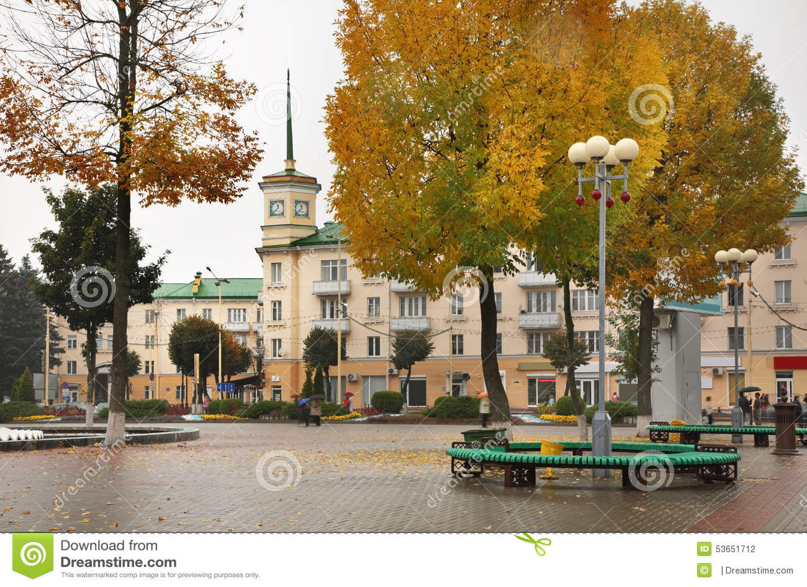 Het Vierkant van Lenin in Baranovichi wit-rusland