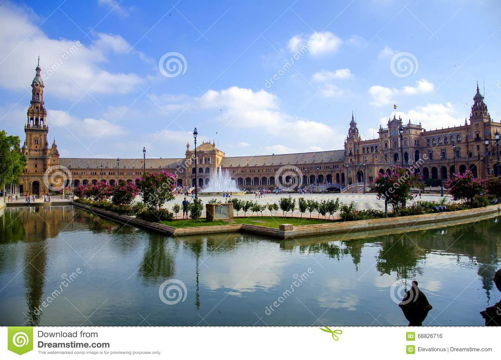 Het Vierkant van Spanje in Sevilla, Spanje