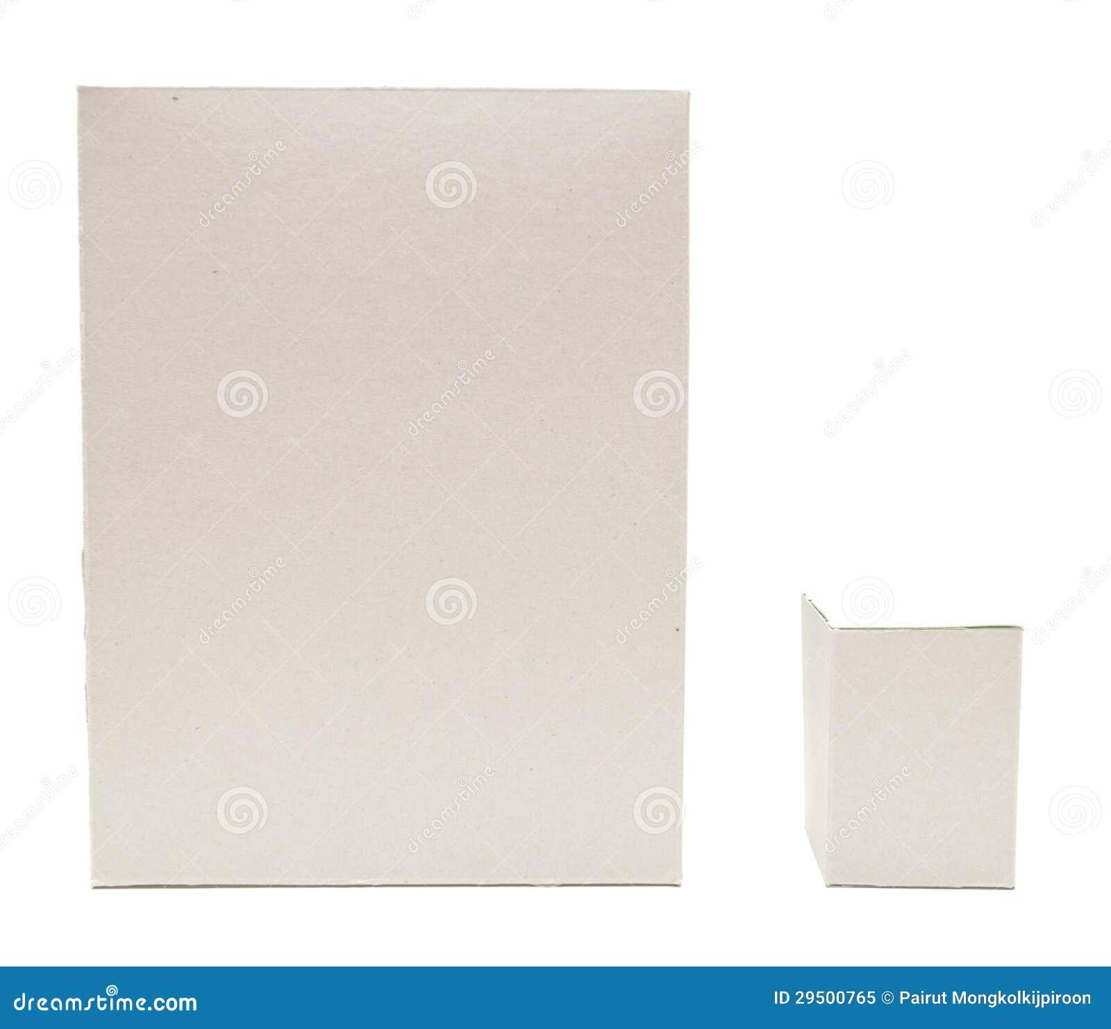 Het vierkante bruine open geïsoleerdeg deksel van het karton