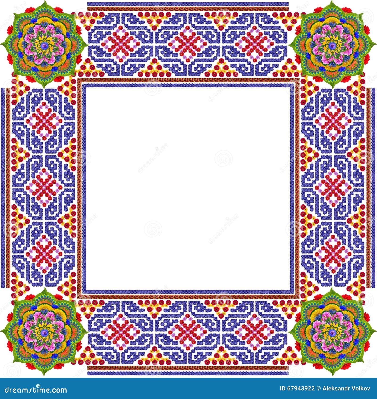 Het vierkante eenvoudige kader van de mandalasfoto