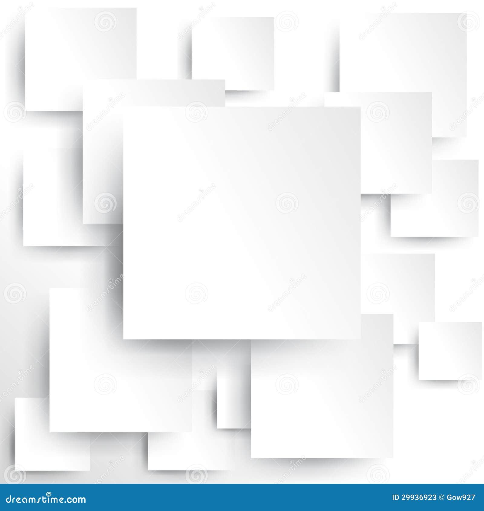 Vierkant element op Witboek met schaduw (vector)