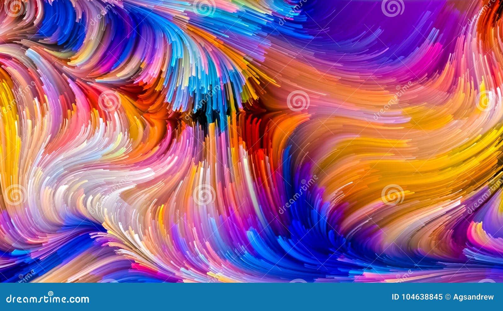 Het virtuele Leven van Vloeibare Kleur