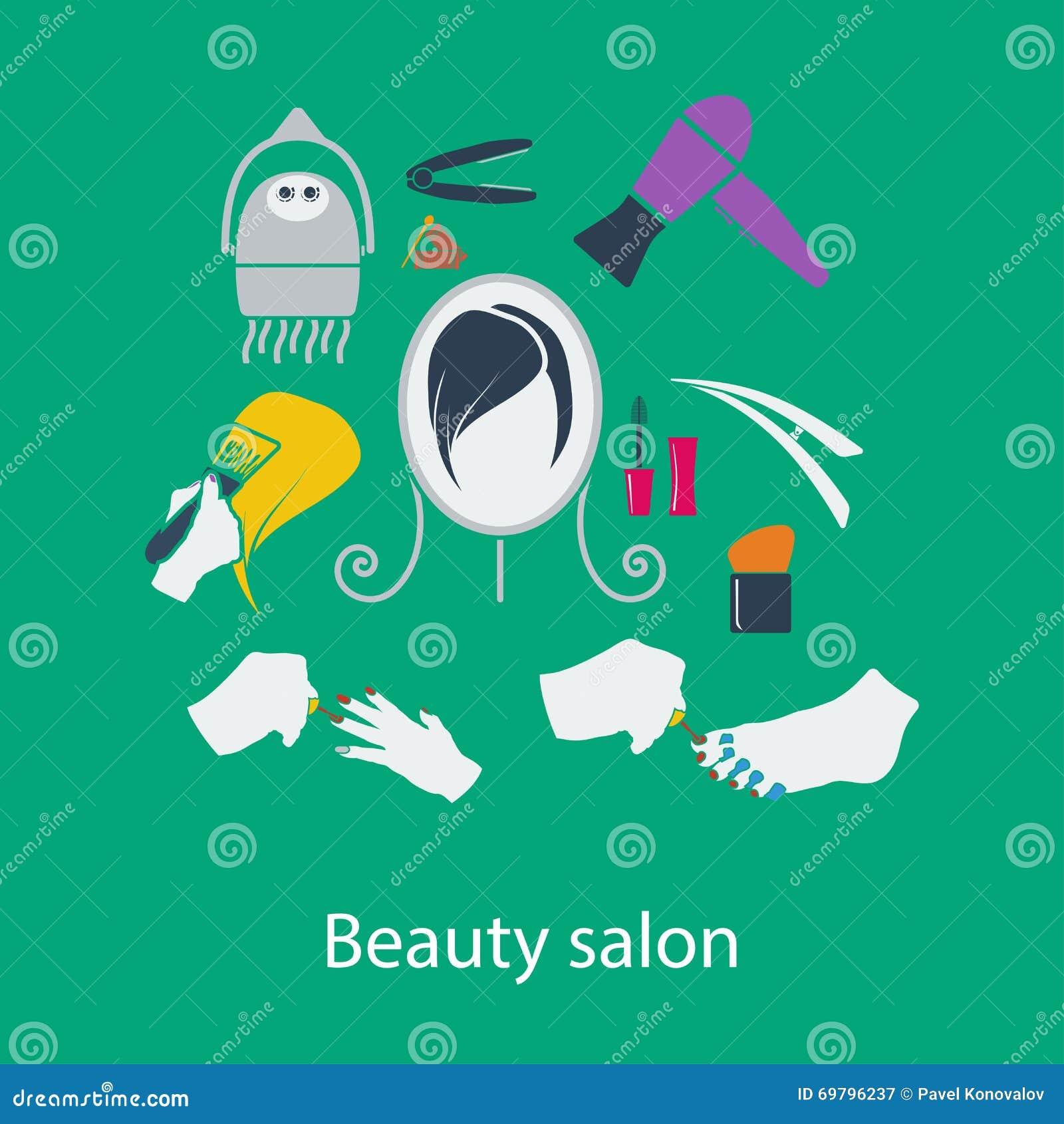 Het vlakke ontwerp van de schoonheidssalon vector illustratie afbeelding 69796237 - Spa ontwerp ...
