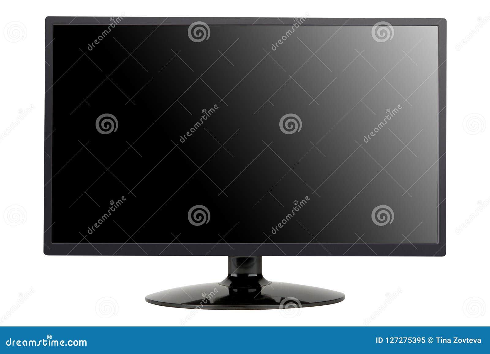 Het vlakke scherm lcd, geïsoleerd plasma van TV