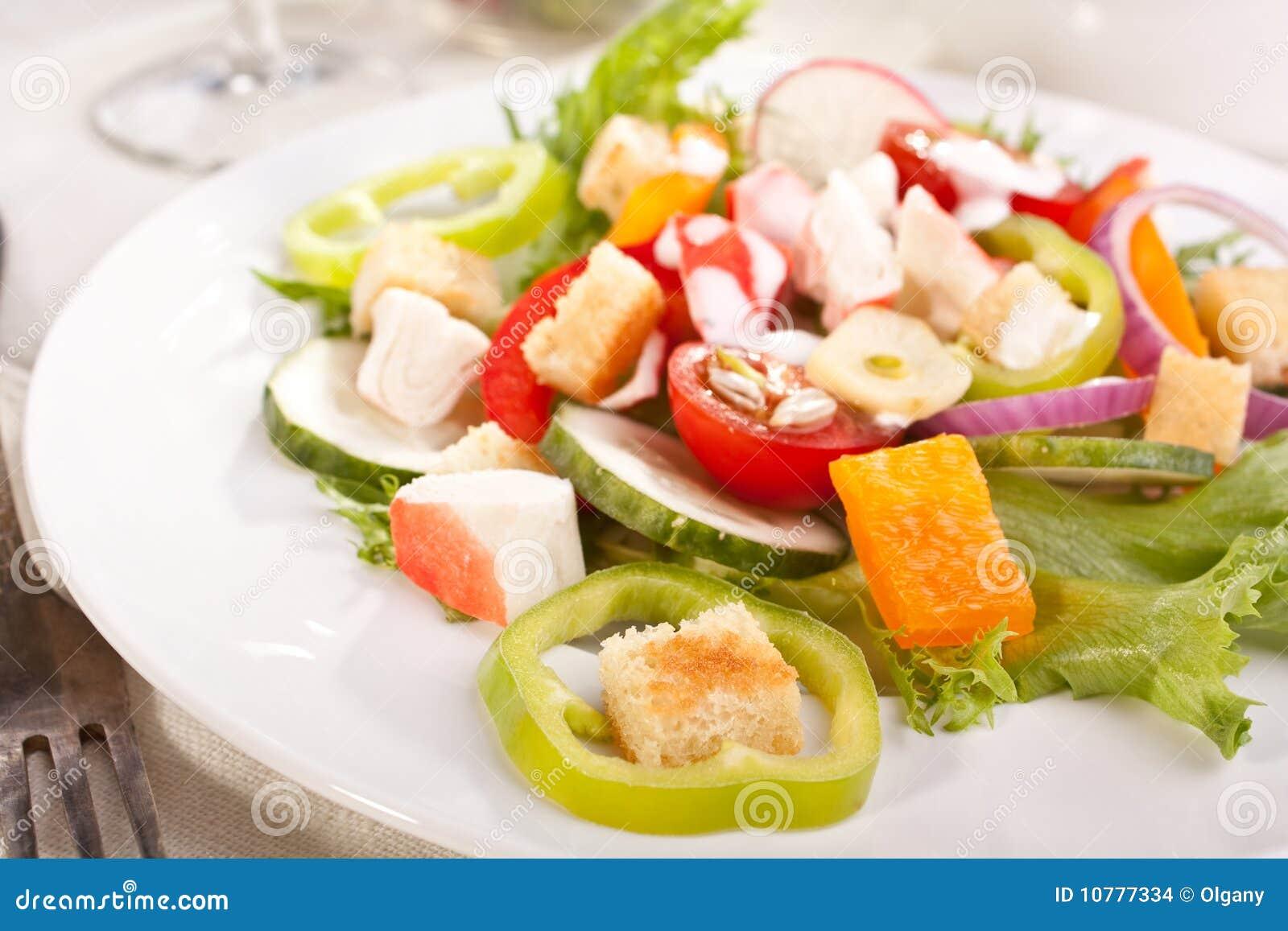 Het vleessalade van de krab
