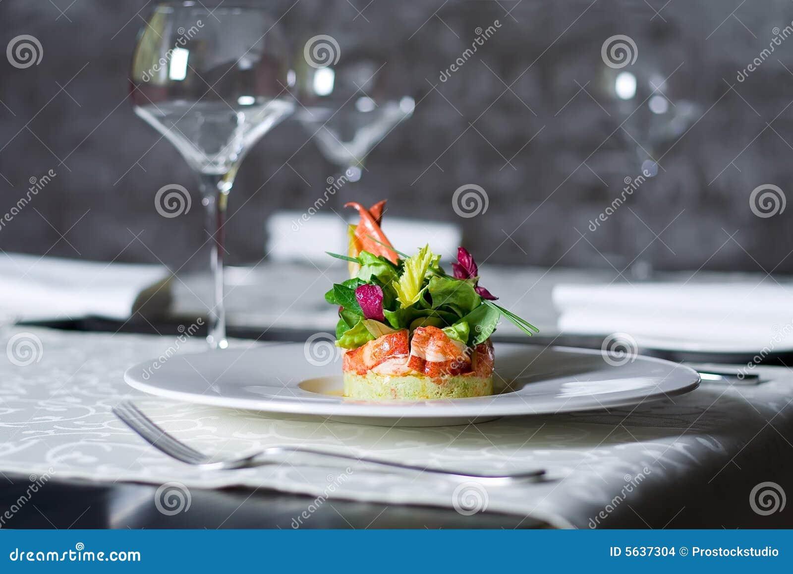Het vleesvoorgerecht van de krab