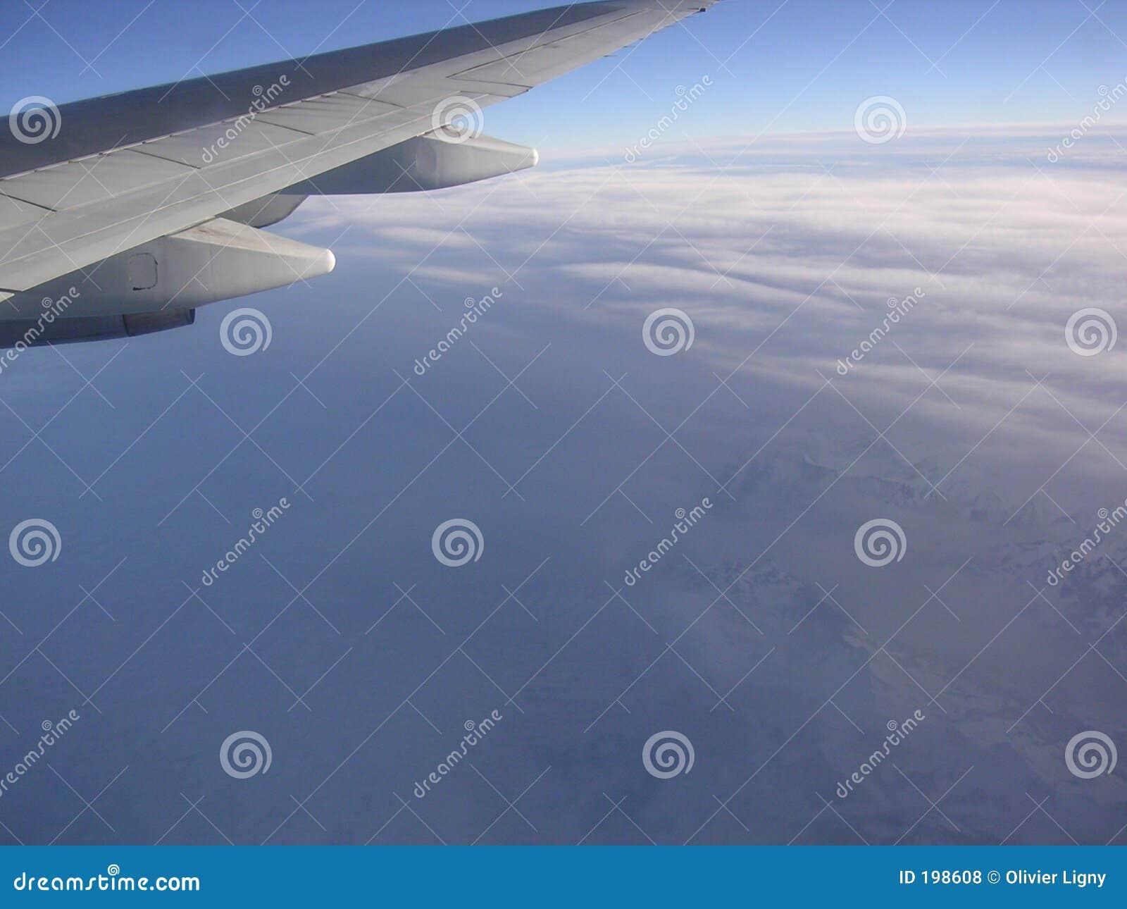 Het vliegen rond de wereld