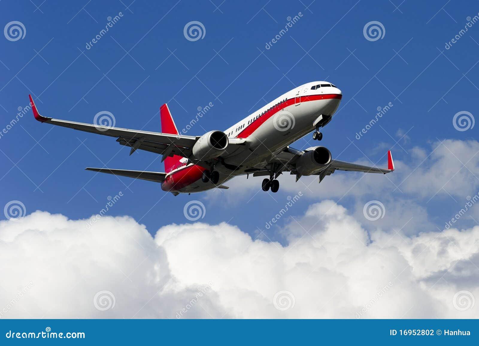 Het vliegtuig van boeing 737 800 dat door het bedrijf van boeing in
