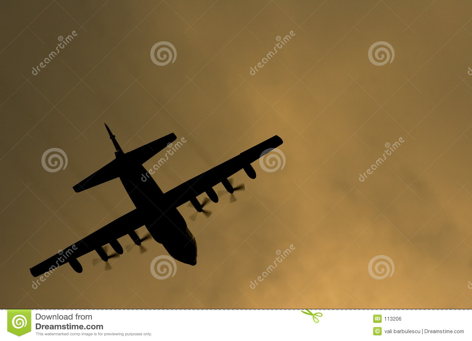 Het vliegtuig van hercules