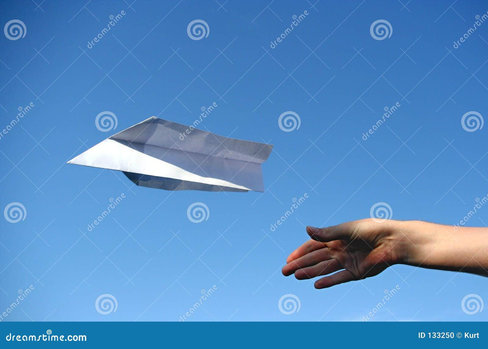 Het vliegtuig van het document