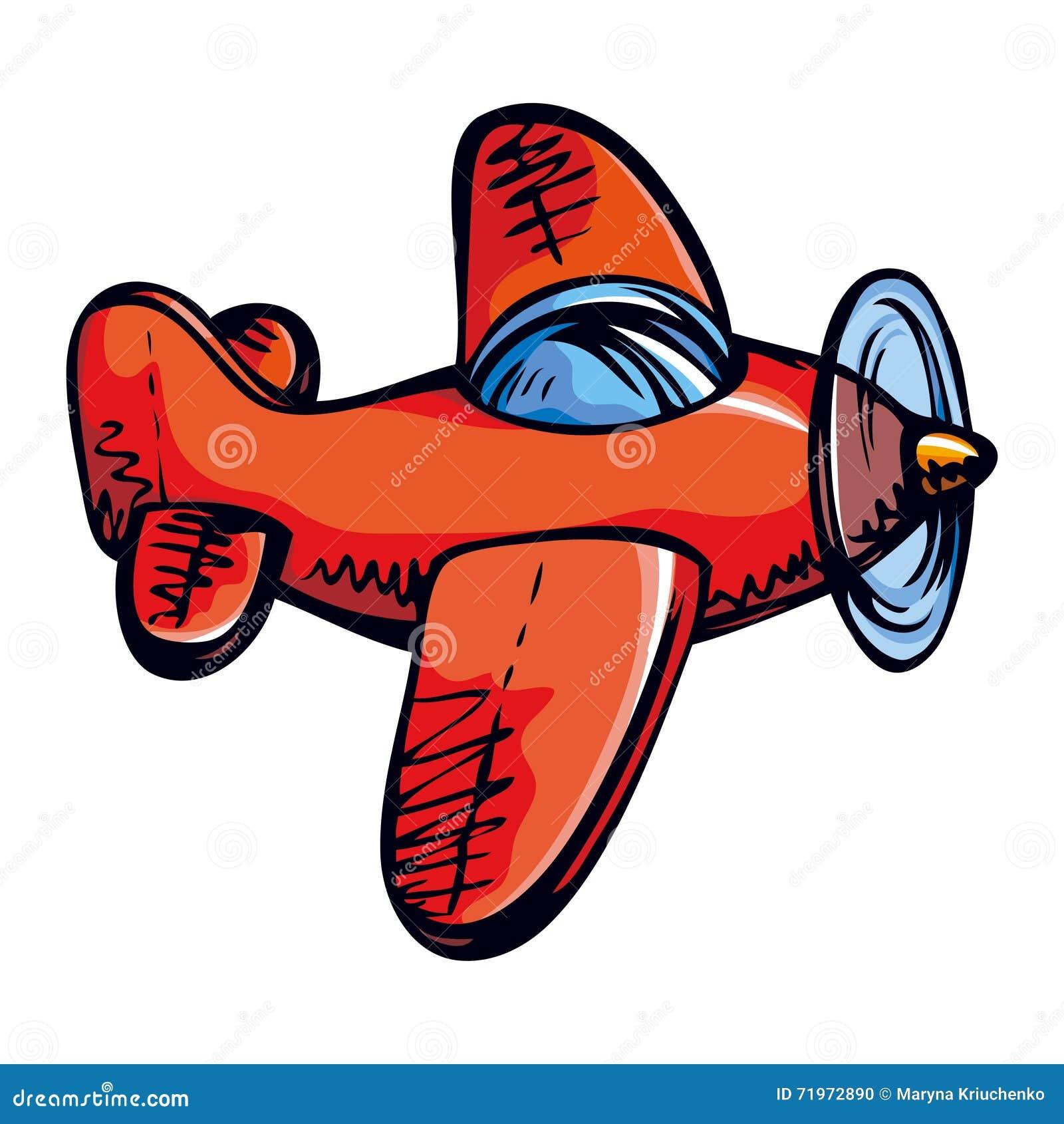 het vliegtuig van het stuk speelgoed vector tekening cartoon airplane clip art free Cute Airplane Clip Art