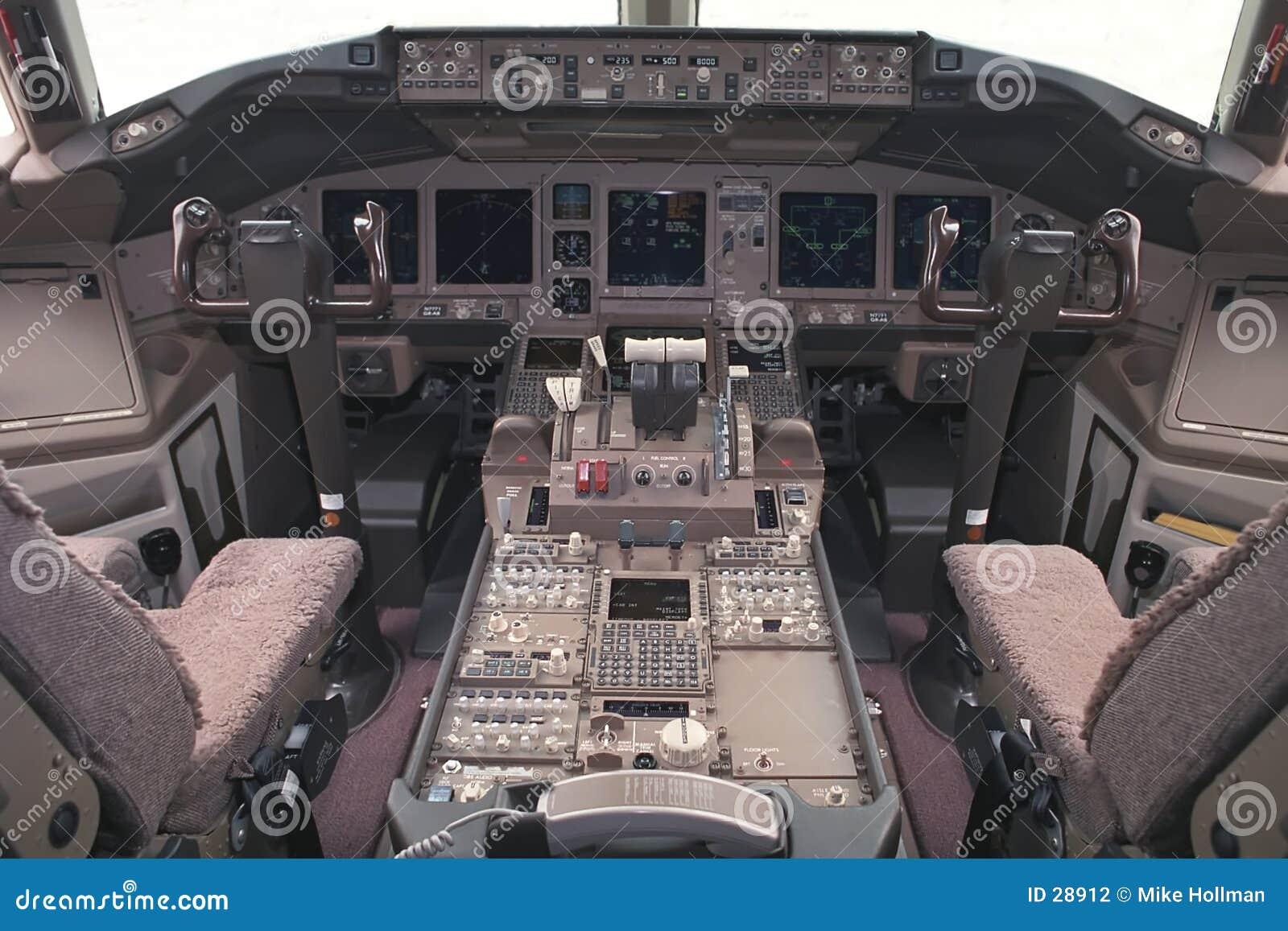 Het vlucht-dek van vliegtuigen