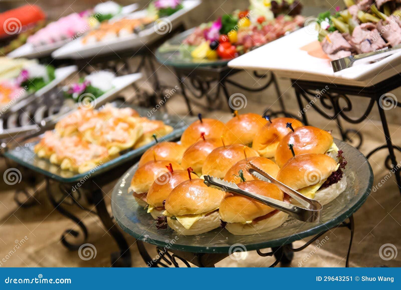 Het voedsel van de catering