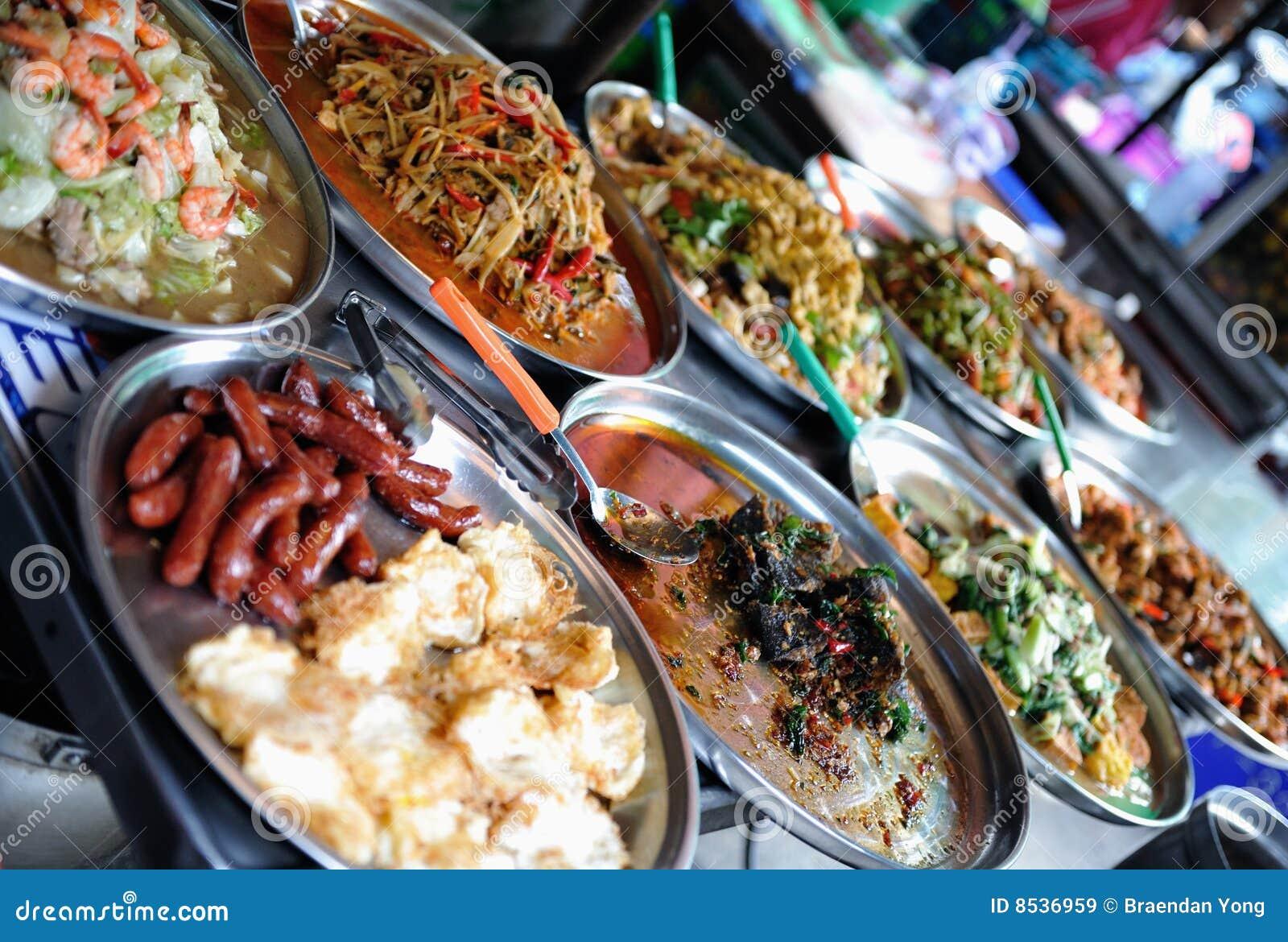 Het voedsel van de straat