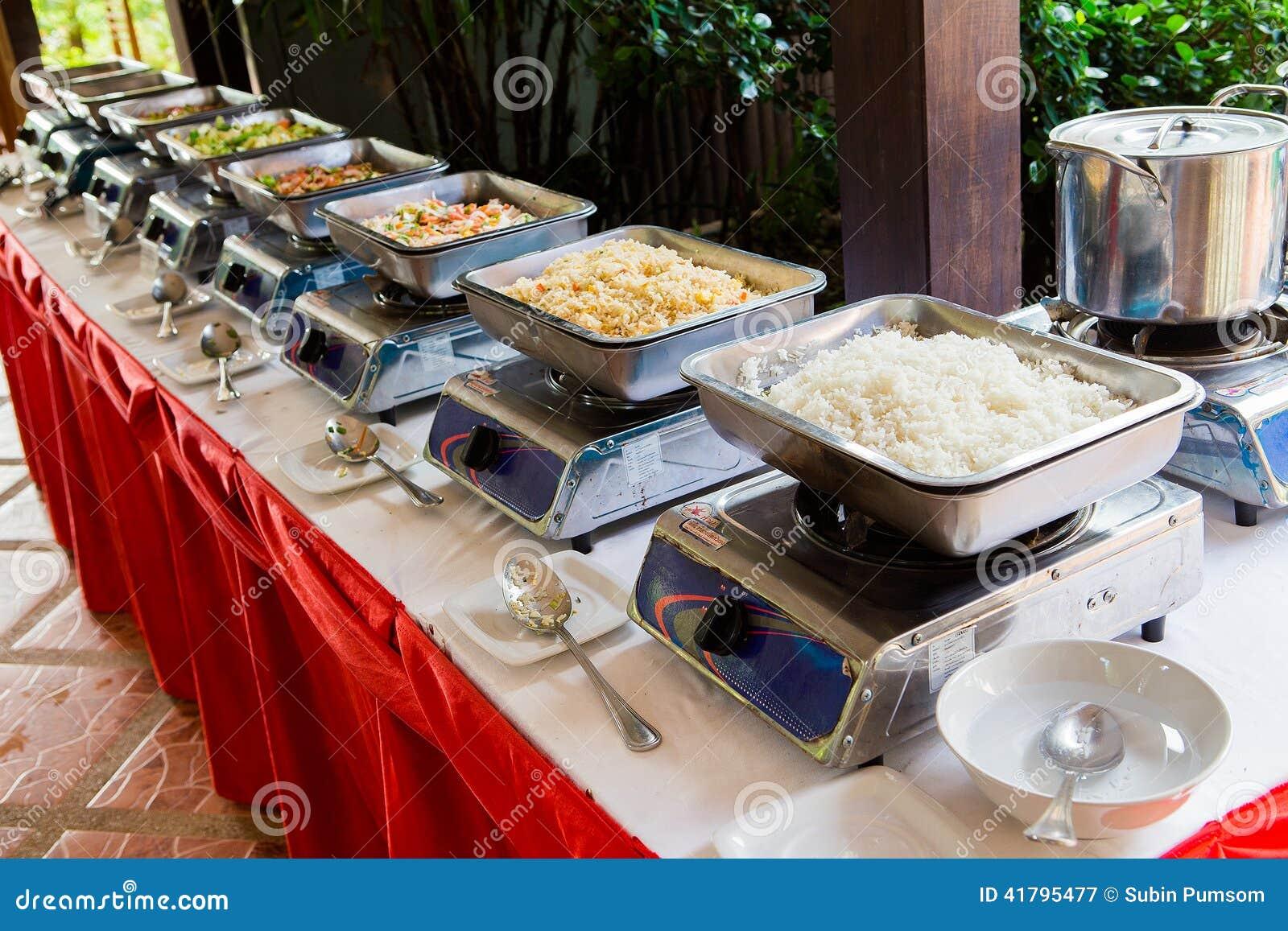 Het voedselbuffet van Thailand