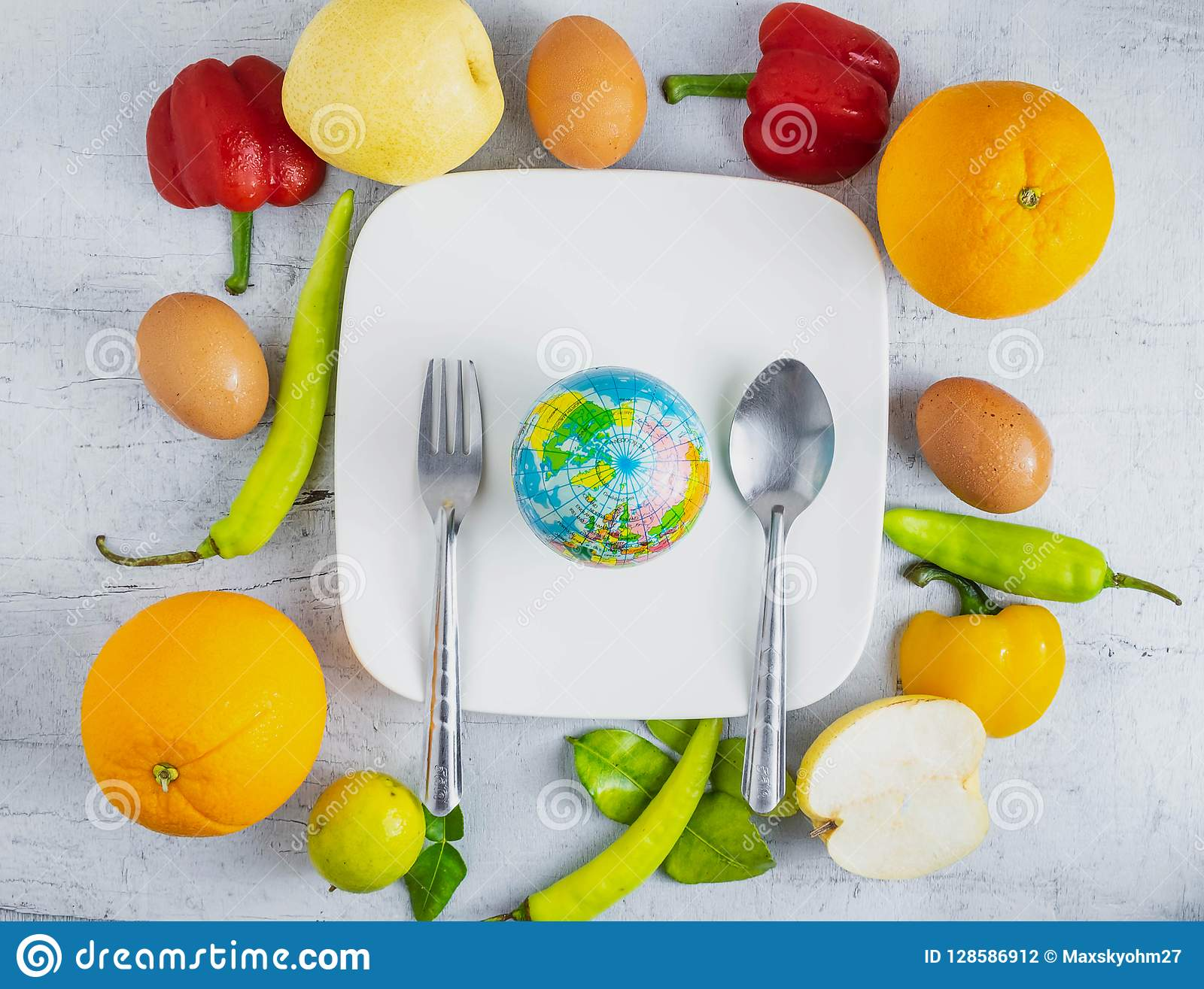 Het voedselconcept van de ideewereld