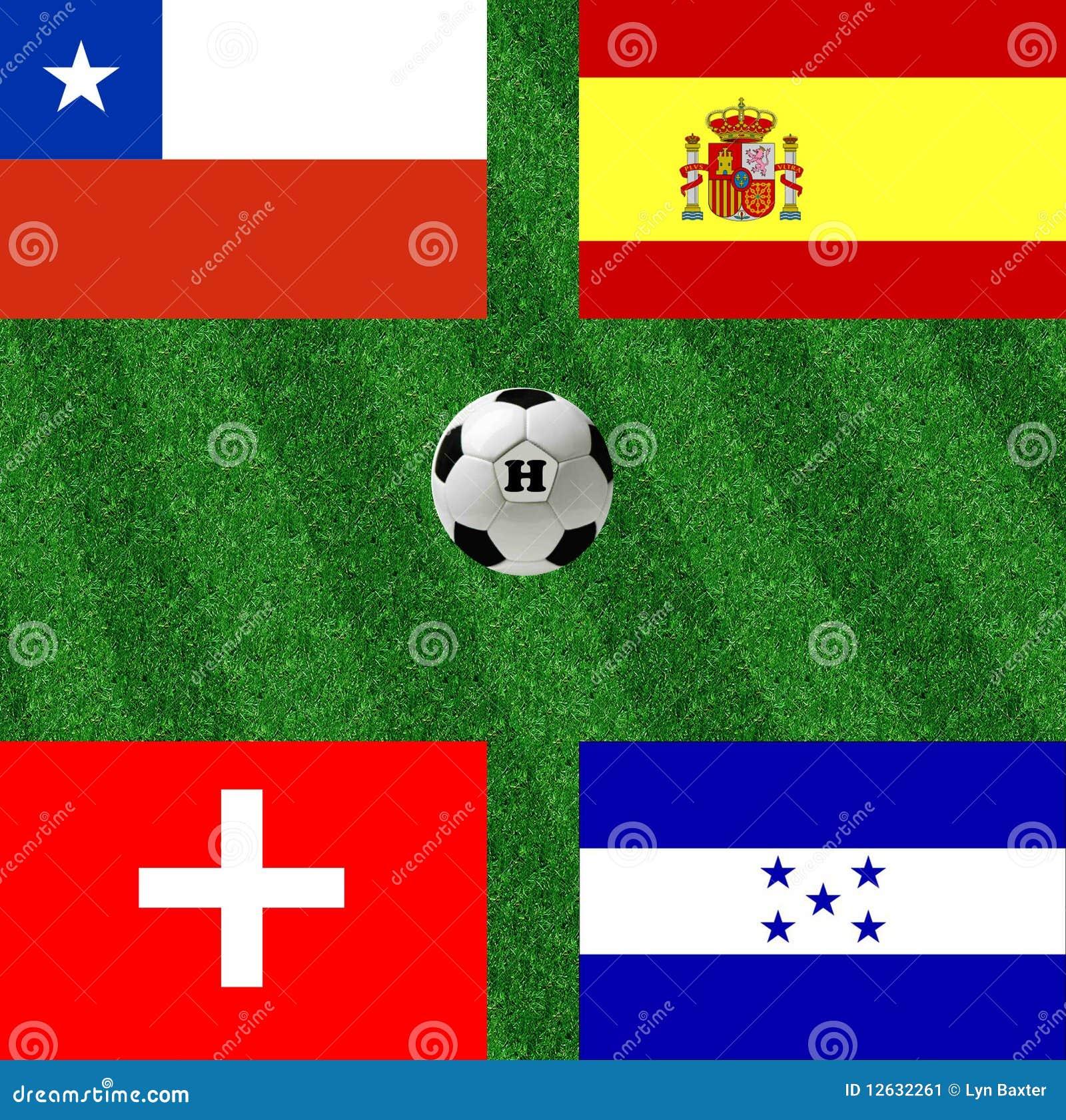 Het voetbal van de de wereldkop van de groep H