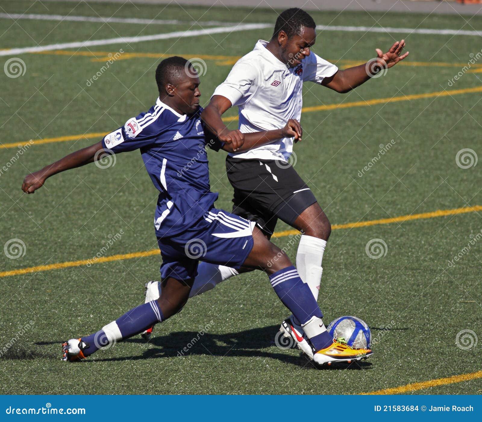 Het voetbalbal Ontario Quebec van Canada