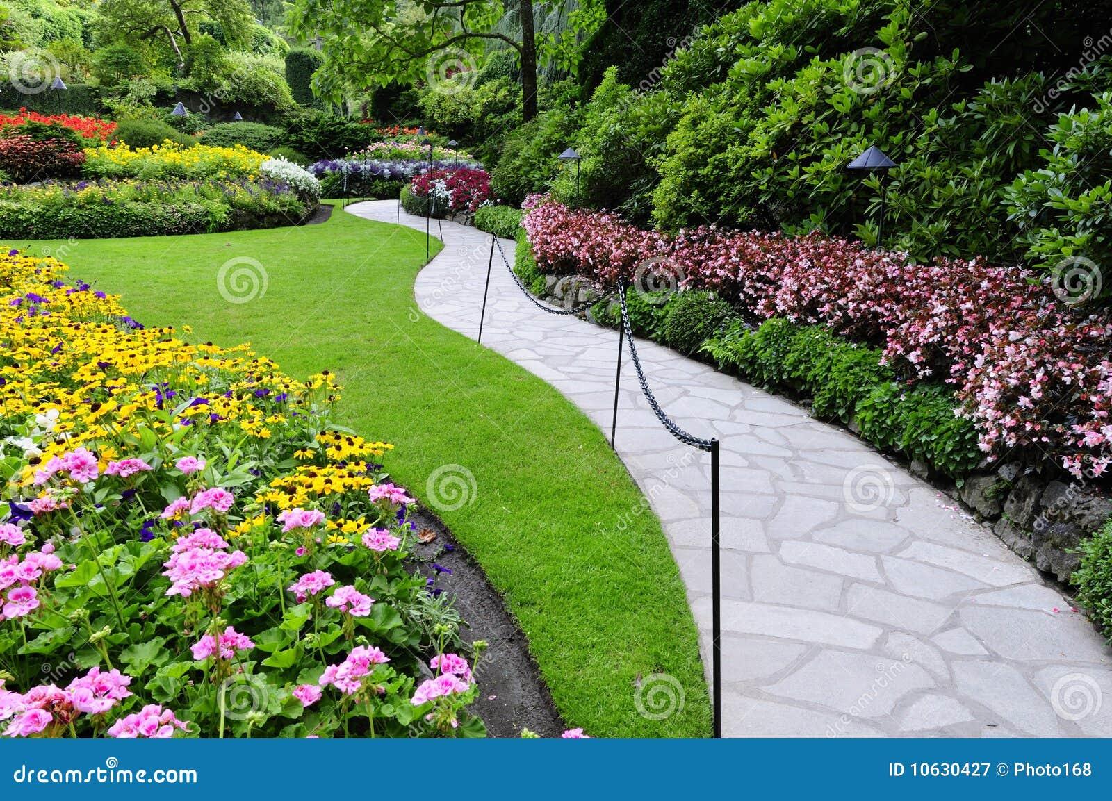 Het voetpad van de tuin stock afbeelding afbeelding bestaande uit groen 10630427 - Deco van de tuin ...