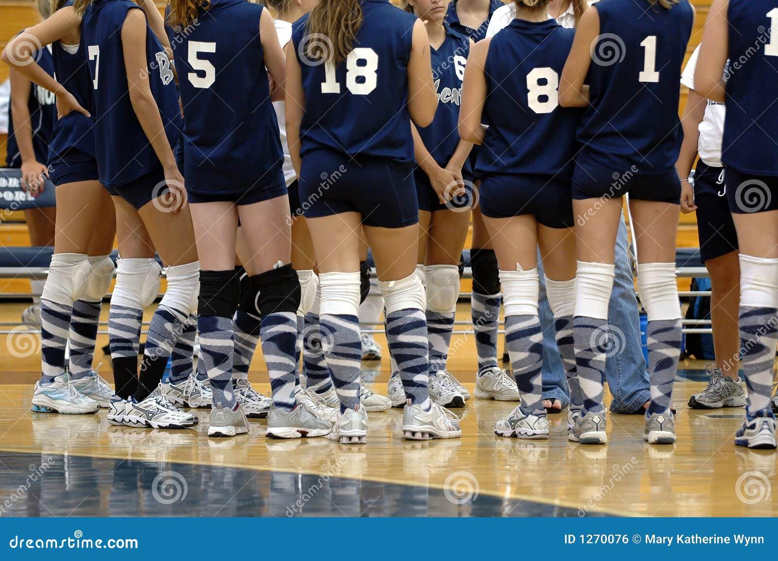 Het volleyballteam van meisjes