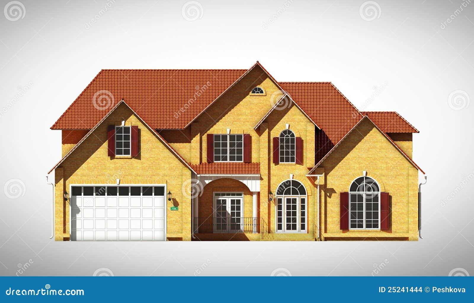 Het vooraanzicht van het huis stock illustratie afbeelding 25241444 - Huis van het wereldkantoor newport ...