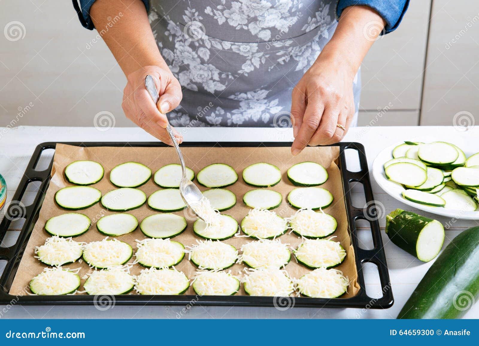courgette bakken met kaas