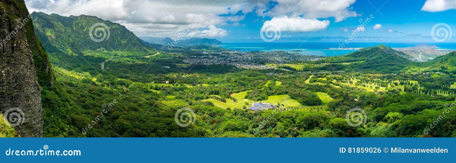 Het Vooruitzicht van Nuuanipali - Oahu