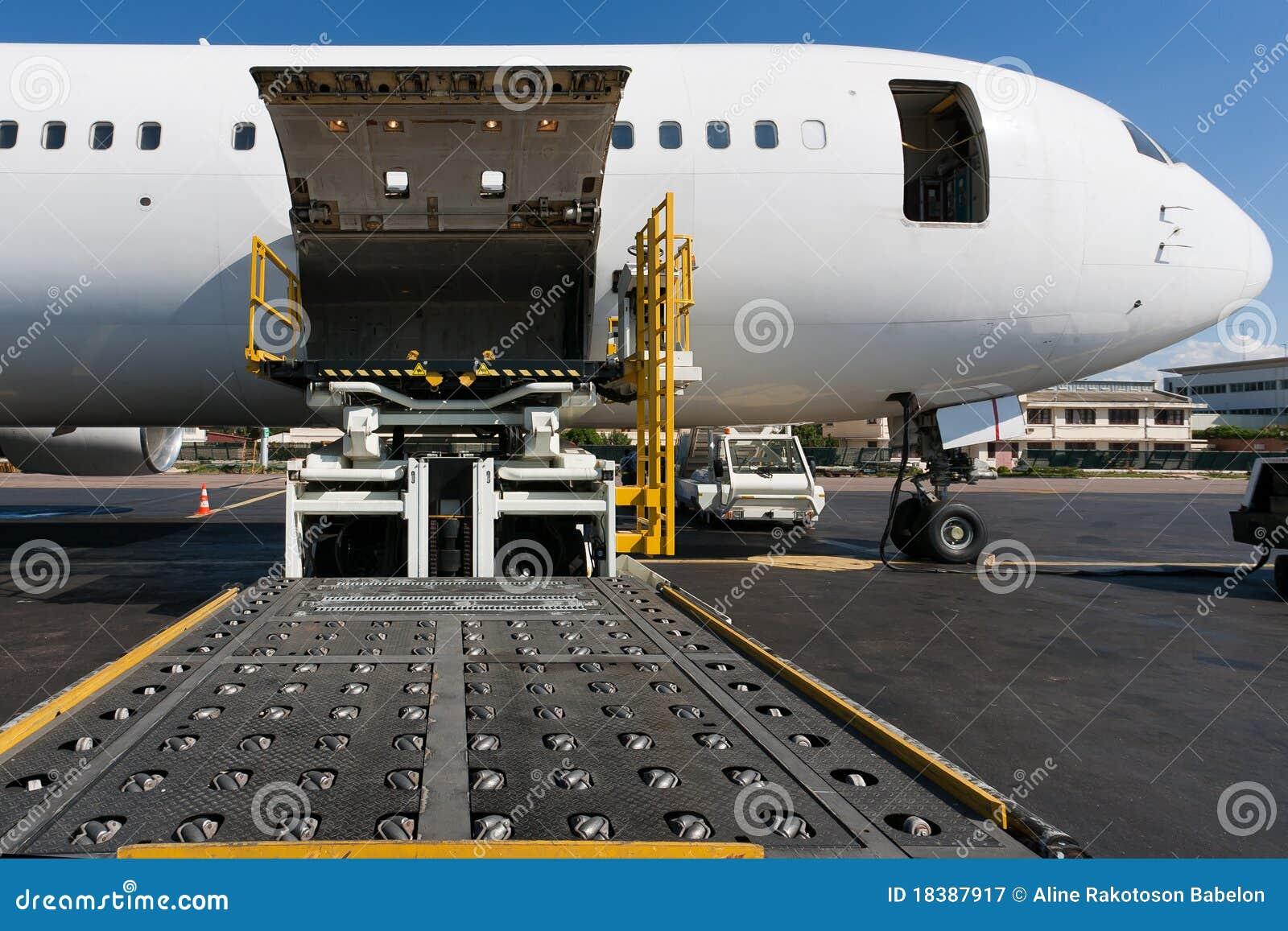 Het vrachtvliegtuig van de lading