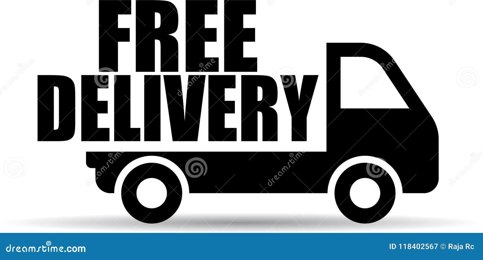 Het vrije pictogram van de leveringsvrachtwagen
