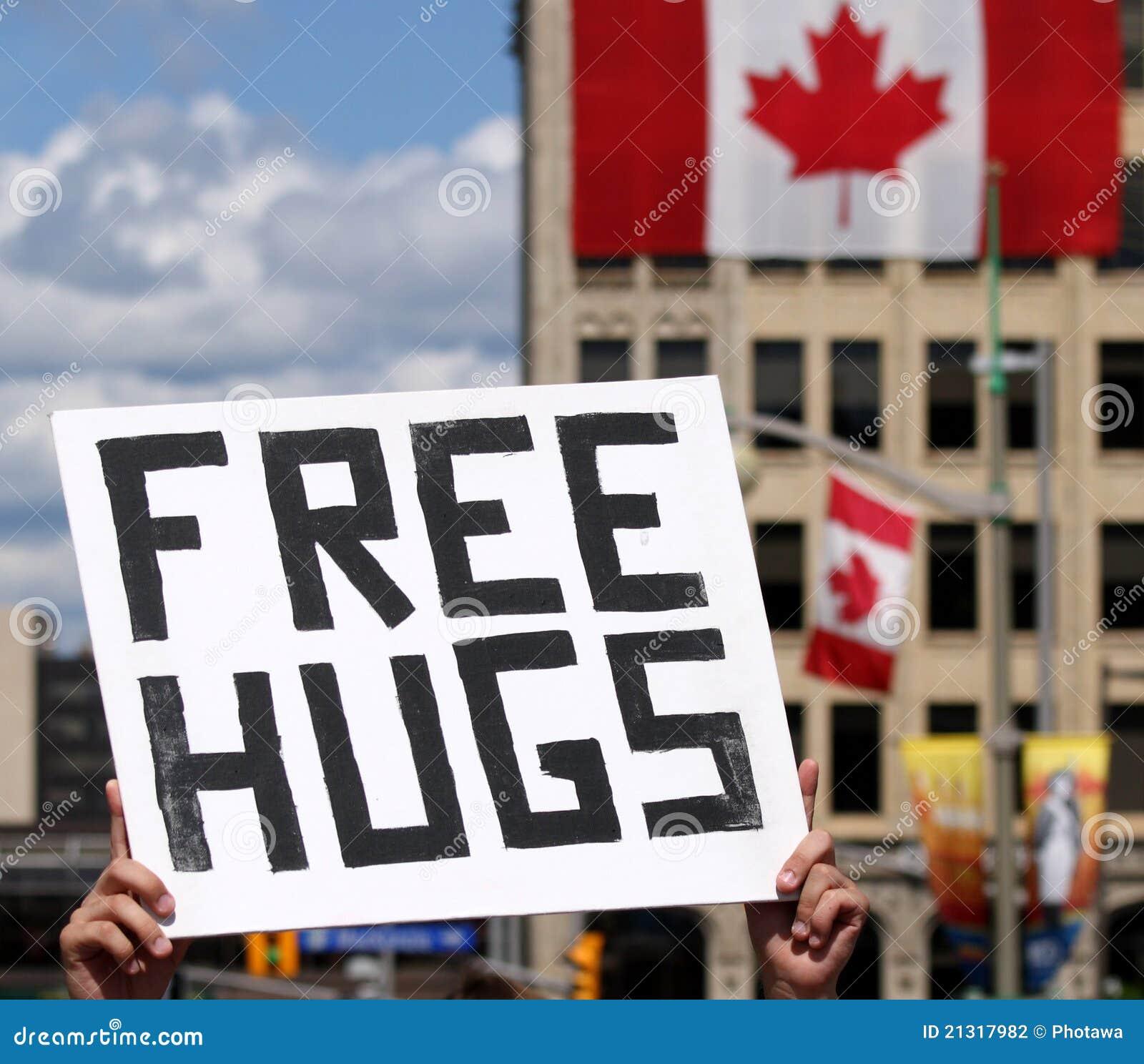 Het vrije Teken van Omhelzingen op de Dag van Canada