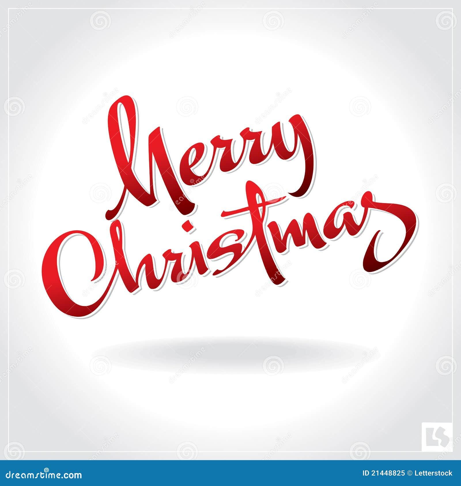 Het vrolijke Kerstmishand van letters voorzien ()