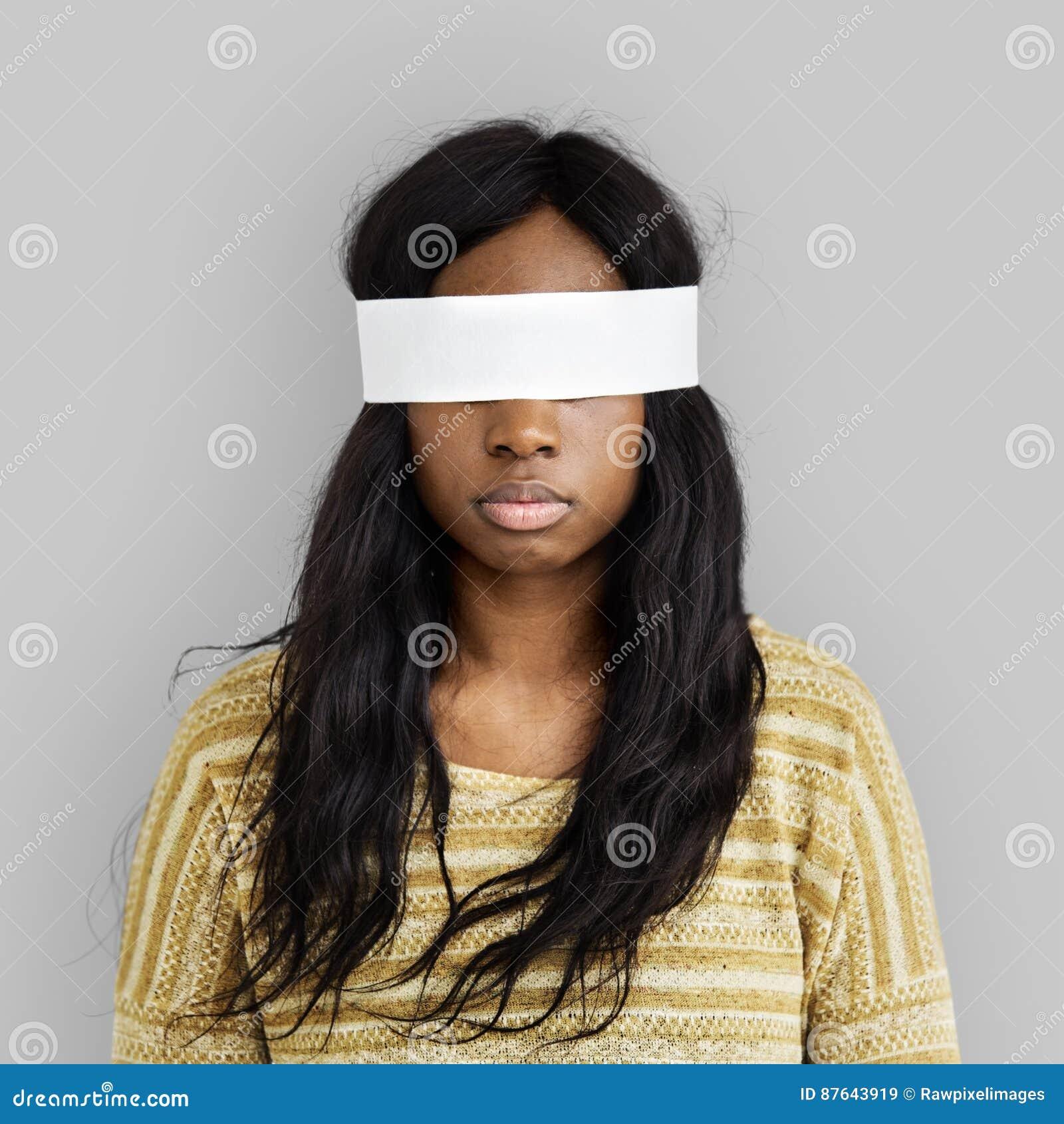 Het vrouwenoog behandelde Blind Verboden Verloren Concept