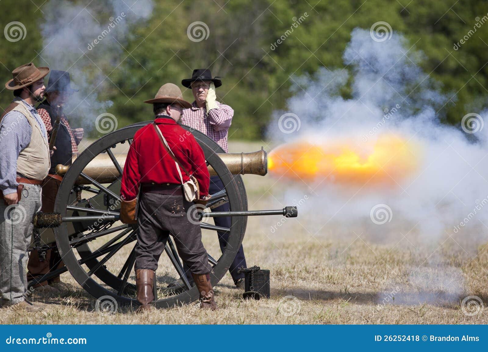 Het Vuren van het Kanon van de Burgeroorlog
