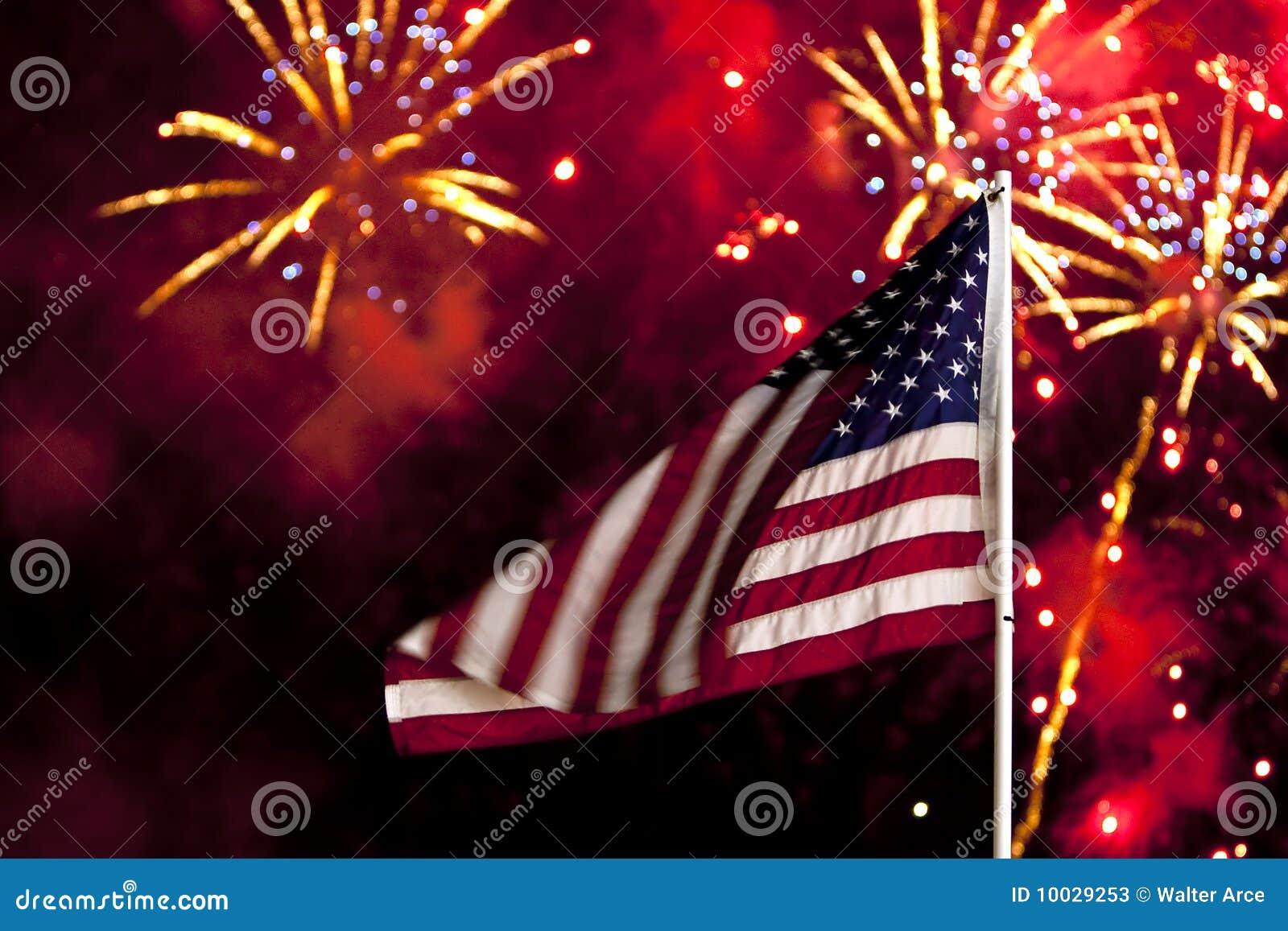 Het Vuurwerk van de Dag van de onafhankelijkheid