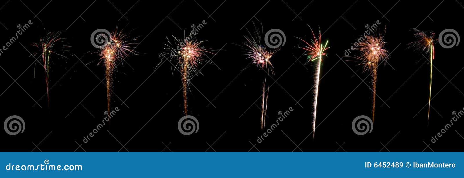 Het vuurwerkpanorama van de viering