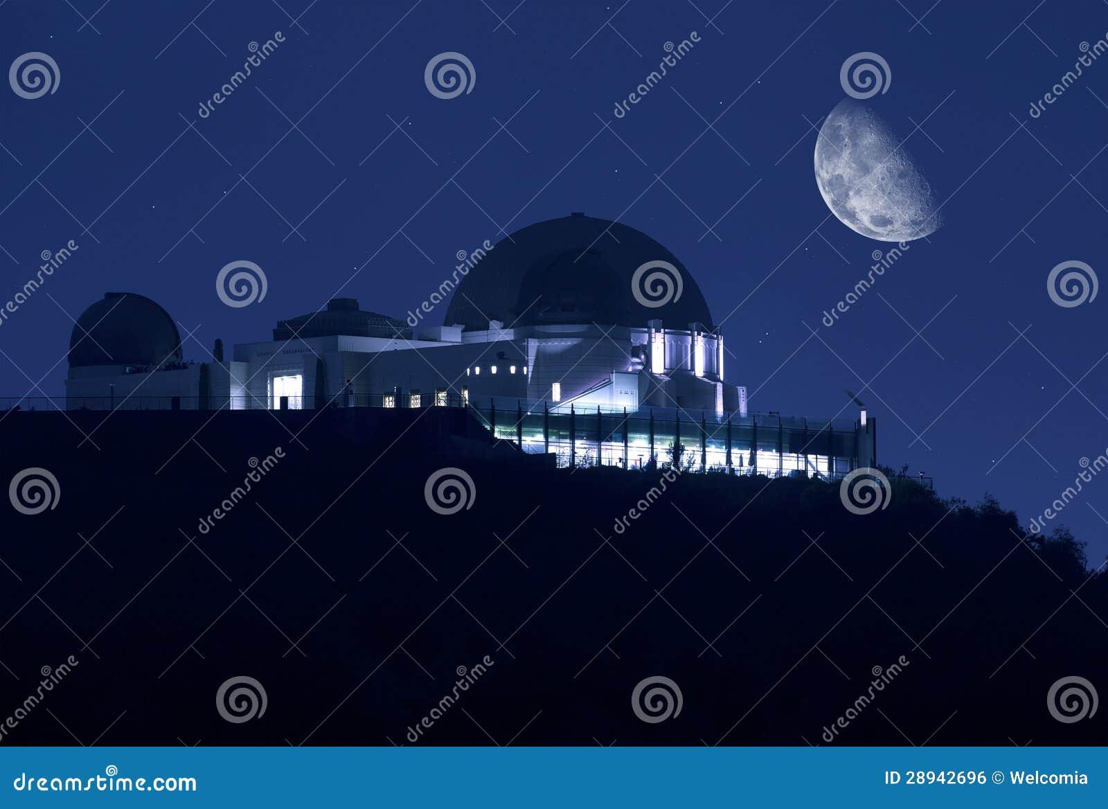 Het Waarnemingscentrum van Griffith bij Nacht