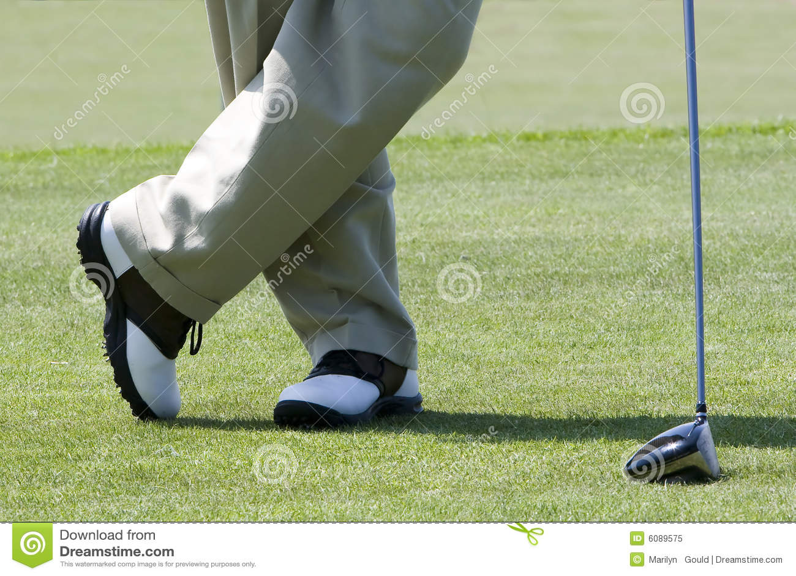 Het wachten van de golfspeler