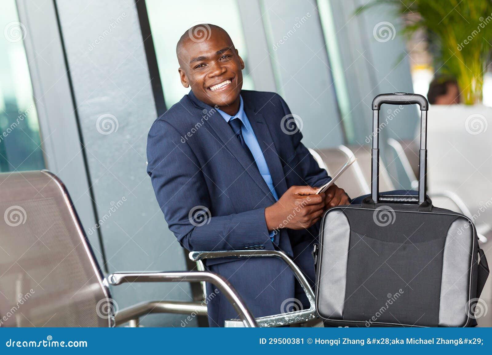 Het wachten van de zakenman luchthaven