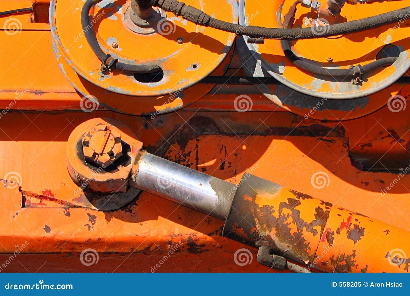Het wapen en de wielen van Hydrauling
