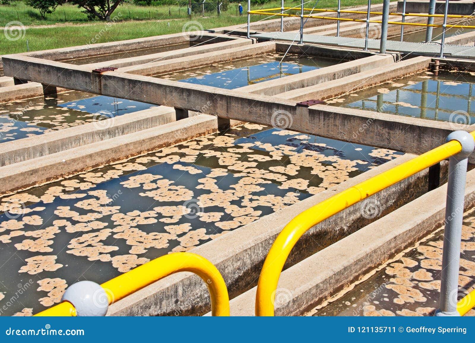 Het waterbehandeling van sedimentatietanks