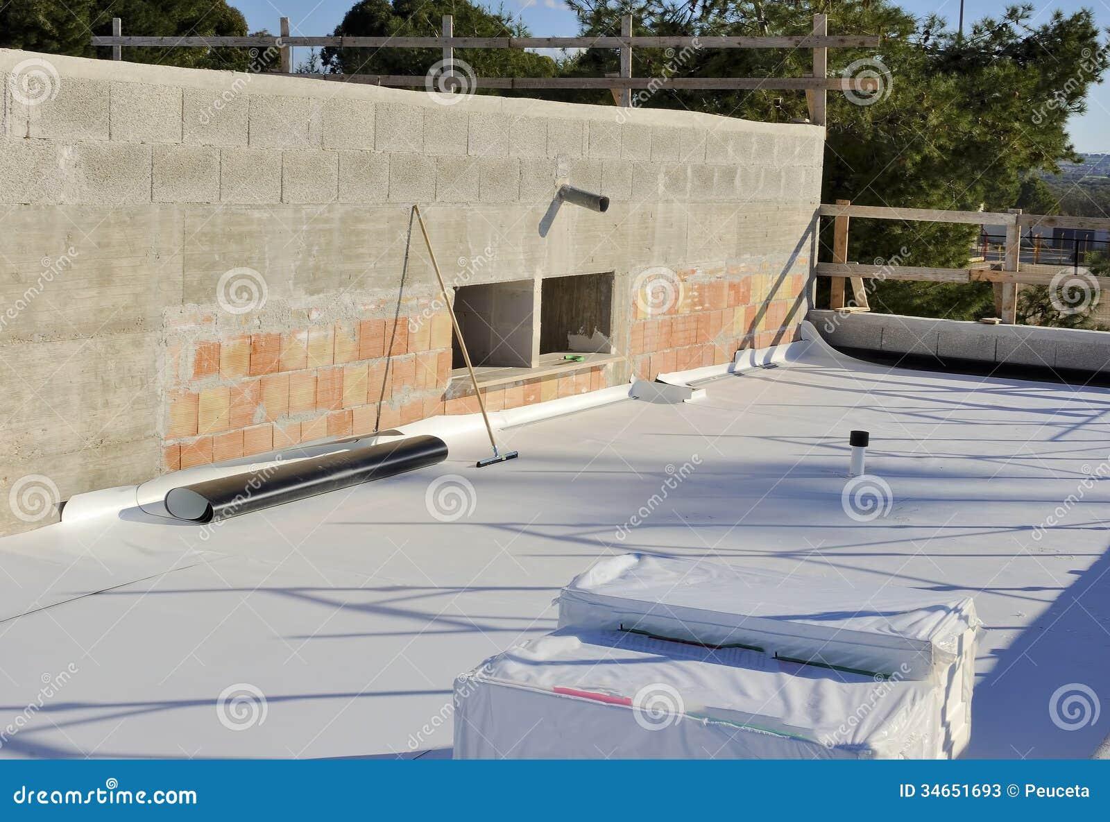 Het waterdicht maken en isolatie het terras van pvc stock foto 39 s afbeelding 34651693 - Model van het terras ...