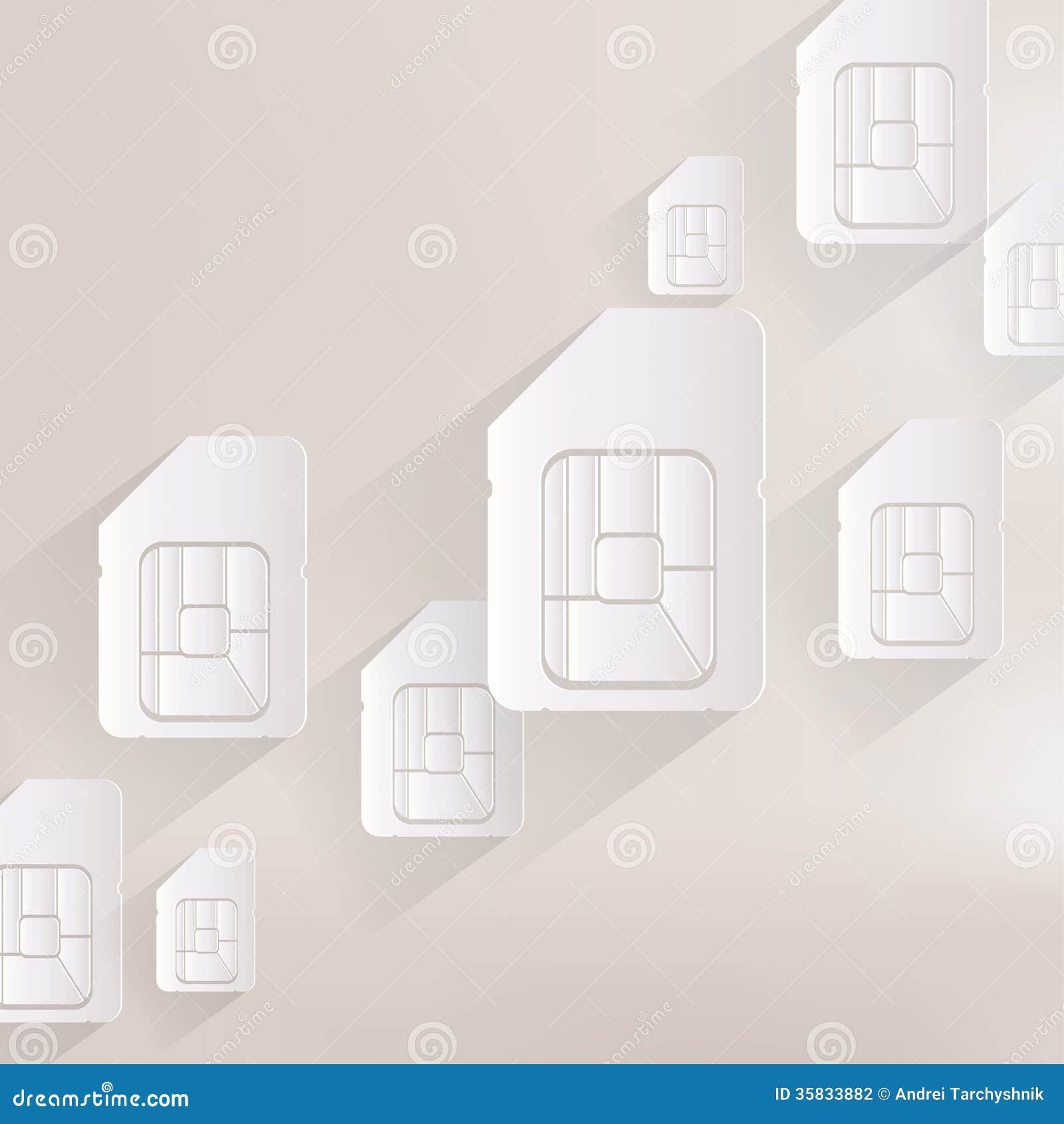 Het Webpictogram van de Simkaart