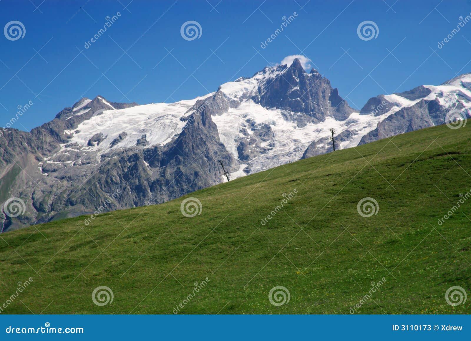 Het weiland van de berg