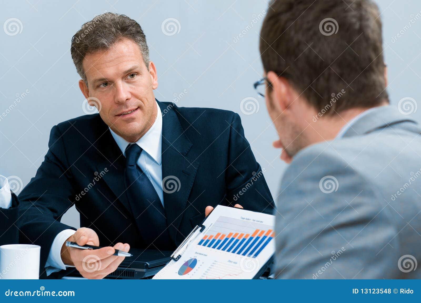 Het werk commerciële vergaderingsbespreking